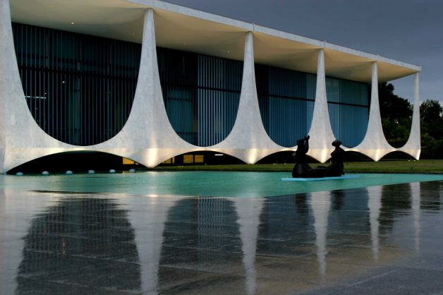 The Palacio da Alvorada, or Palace of Dawn, the official residence of Brazilian presidents